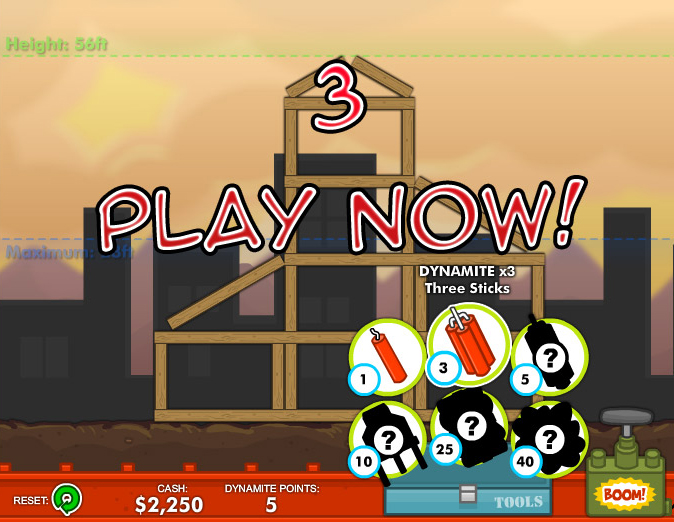 click to play demolition city 3